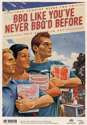 австралийский плакат