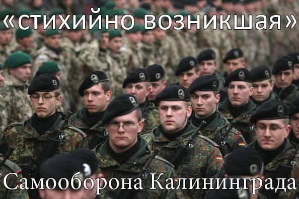 Стихийно возникшая самооборона Калининграда